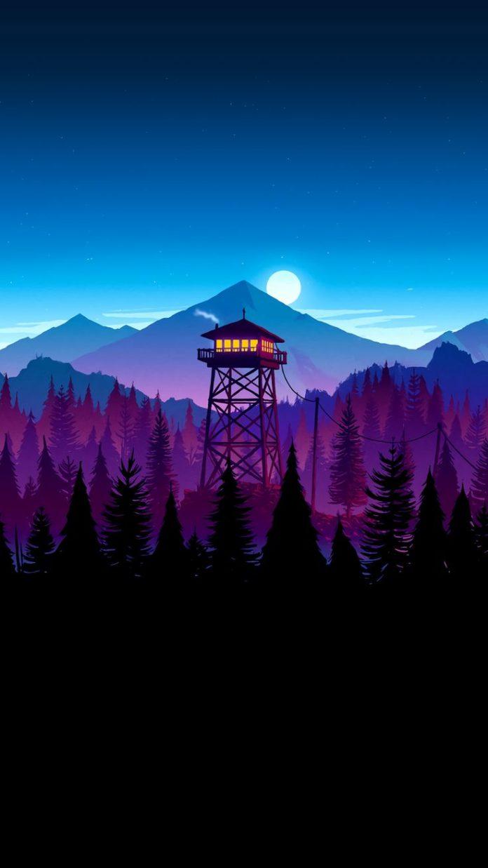 Firewatch Night-Time Scene [1440x2560] - Imgur