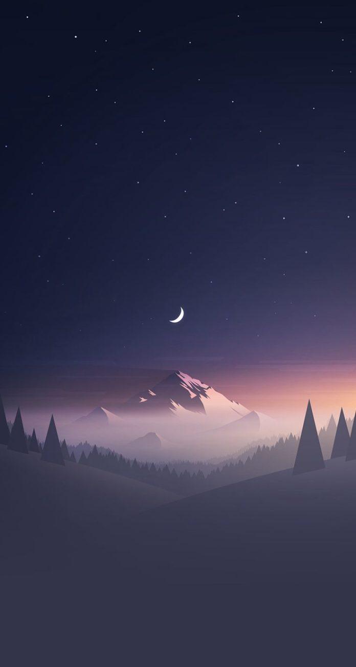 Mountain Stars Moon IPhone Wallpaper - Best Wallpaper HD