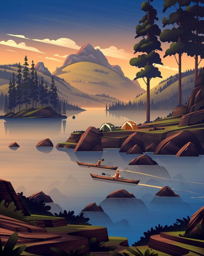 Scenic illustrations can oftentimes benefit from the subtle use of figures. Thes...
