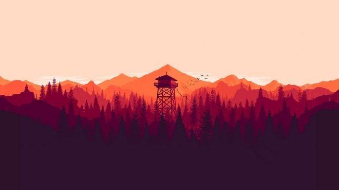 #video games, #artwork, #forest, #tower, #Olly Moss, #digital art, #mountains, #...