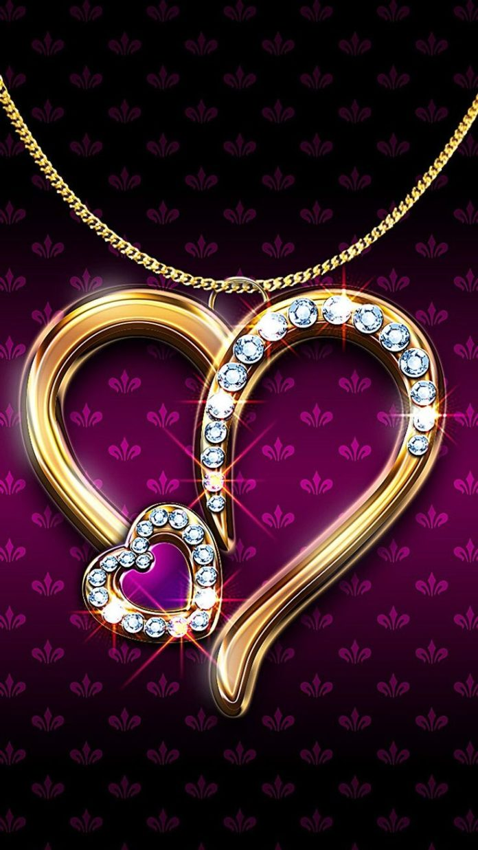 ↑↑TAP AND GET THE FREE APP! Lockscreens Luxury Heart Pendant Sparkle Bright ...