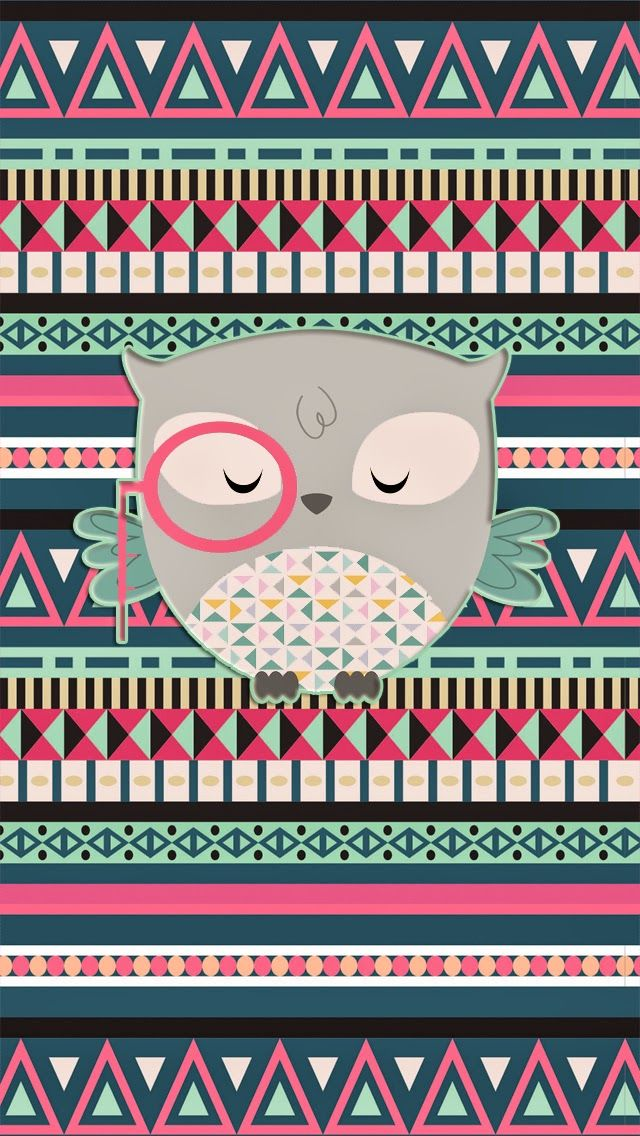 Iphone Wallpaper Ideas Pretty Walls Aztec Owl Freebie