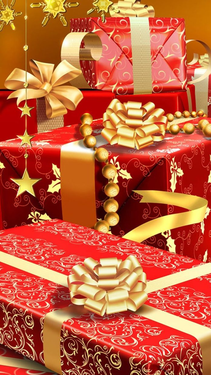 Rich Christmas Gifts #iPhone #6 #plus #wallpaper Merry Christmas!!!
