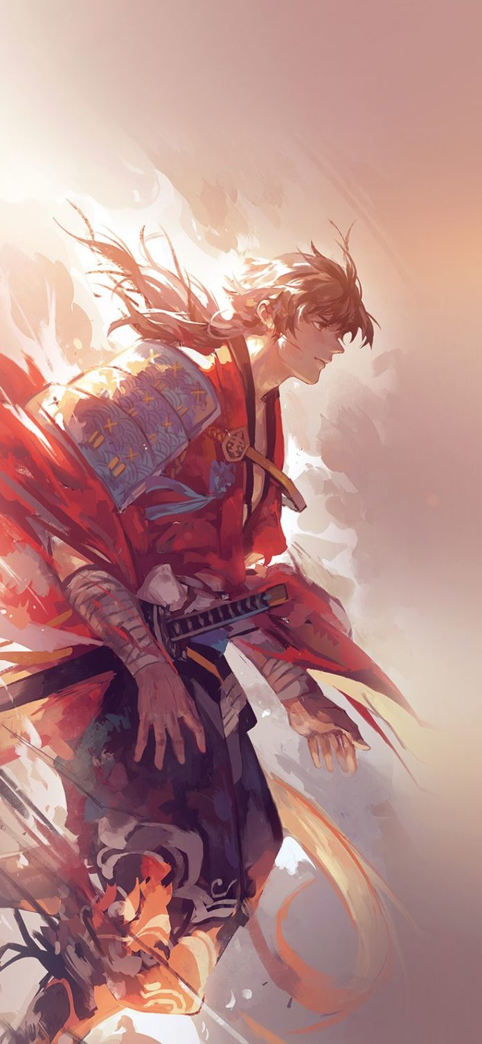 aw64-hanyijie-hero-red-handsomeillustration-art-anime-flare via iPhoneXpapers.co...