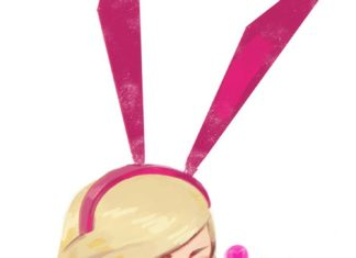 aw68-paul-kwon-cute-girl-bunny-remi-illustration-art-pink via iPhoneXpapers.com ...