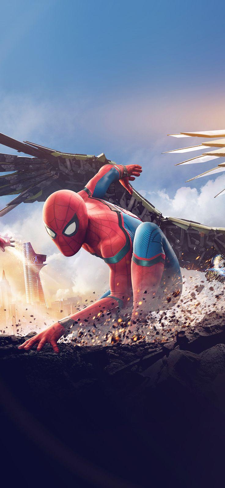 Iphone X Wallpaper Az57 Homecoming Spiderman Hero Marvel