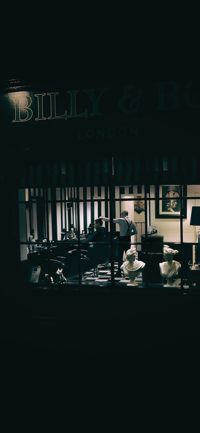 bd57-barbershop-dark-city-art-illustration via iPhoneXpapers.com - Wallpapers fo...