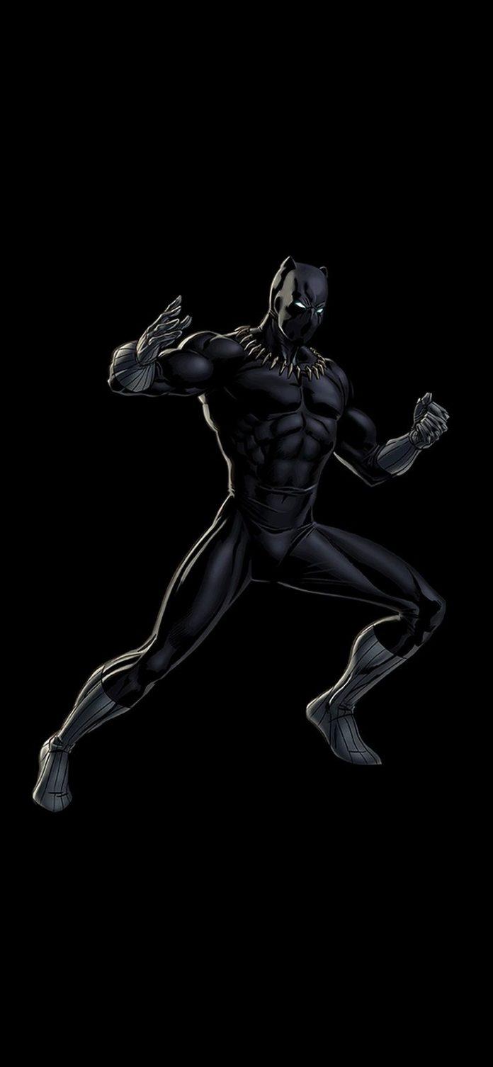 bd91-hero-marvel-blackpanther-dark-art-illustration via iPhoneXpapers.com - Wall...