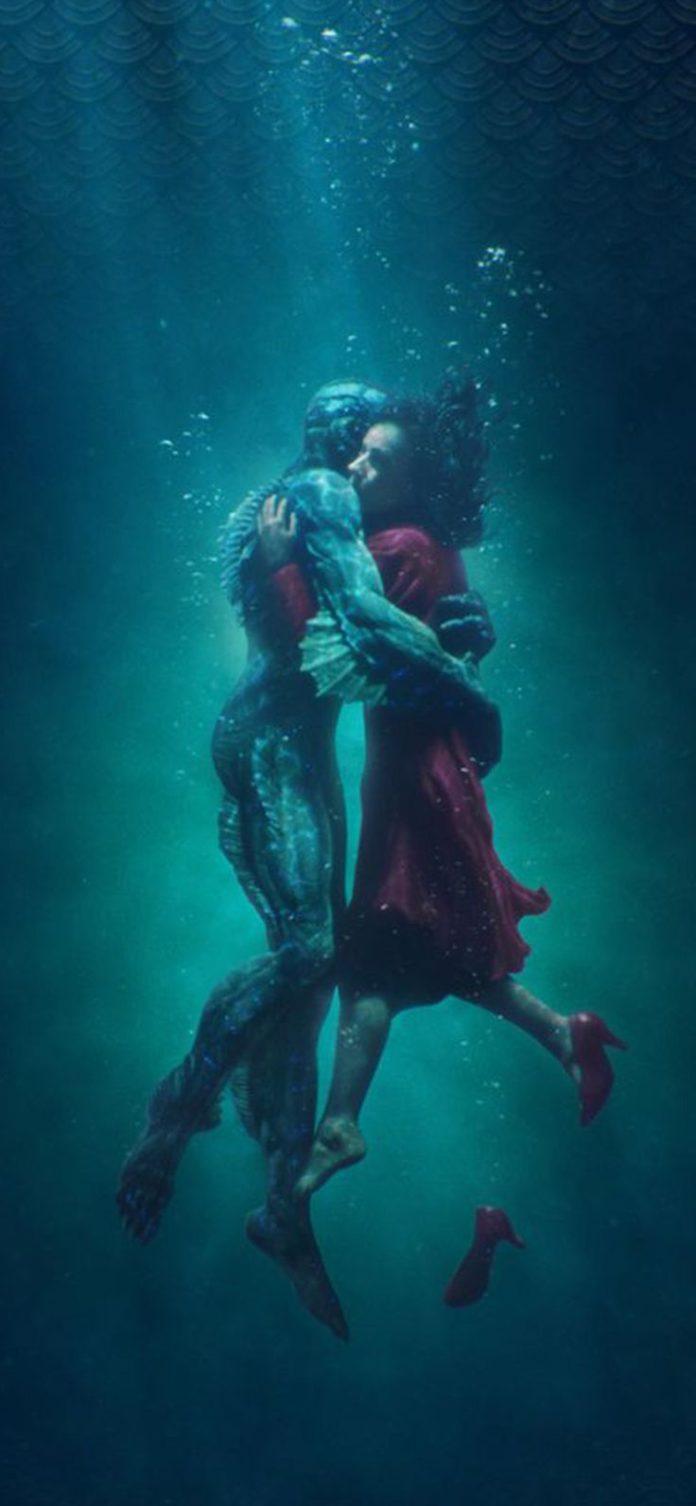 be45-shape-of-water-poster-film-art-illustration via iPhoneXpapers.com - Wallpap...