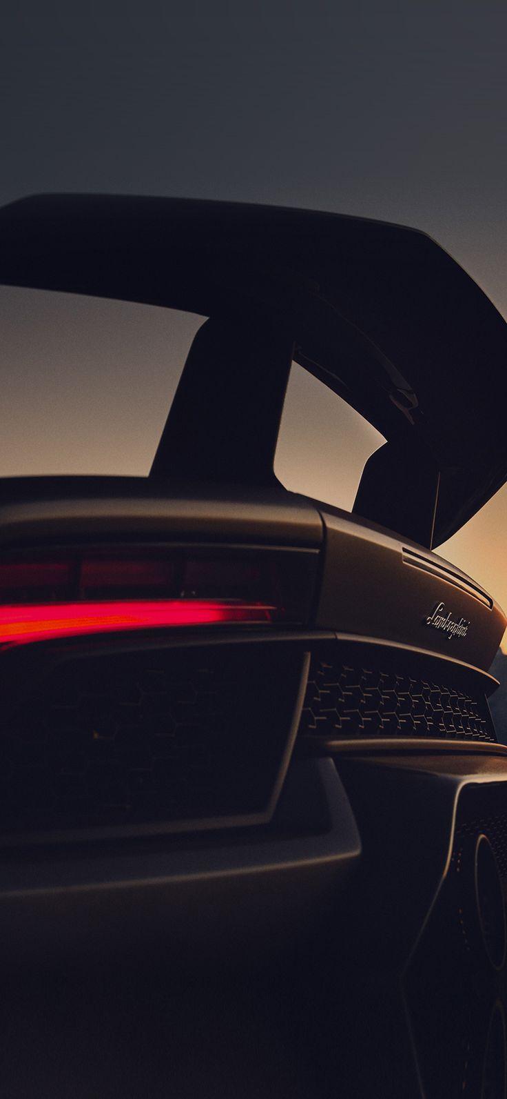 Iphone X Wallpaper Be51 Lamborghini Car Dark Art Illustration Via