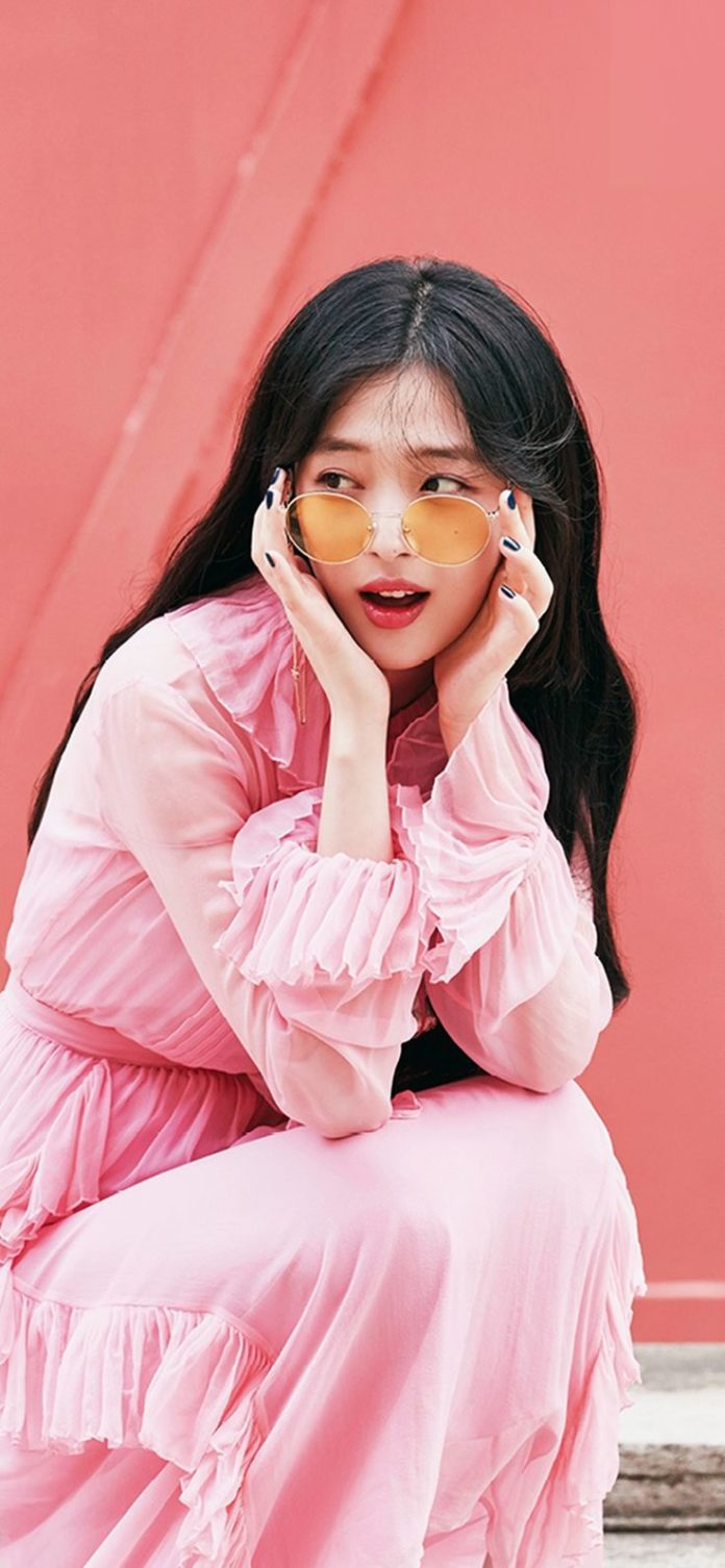 ho95-sulli-girl-kpop-pink via iPhoneXpapers.com - Wallpapers for iPhone X