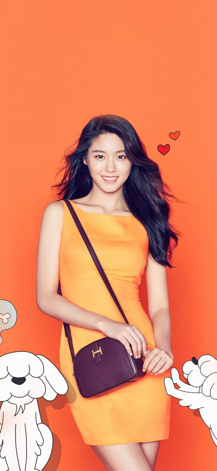 hp20-sulhyun-girl-orange-face-kpop via iPhoneXpapers.com - Wallpapers for iPhone...