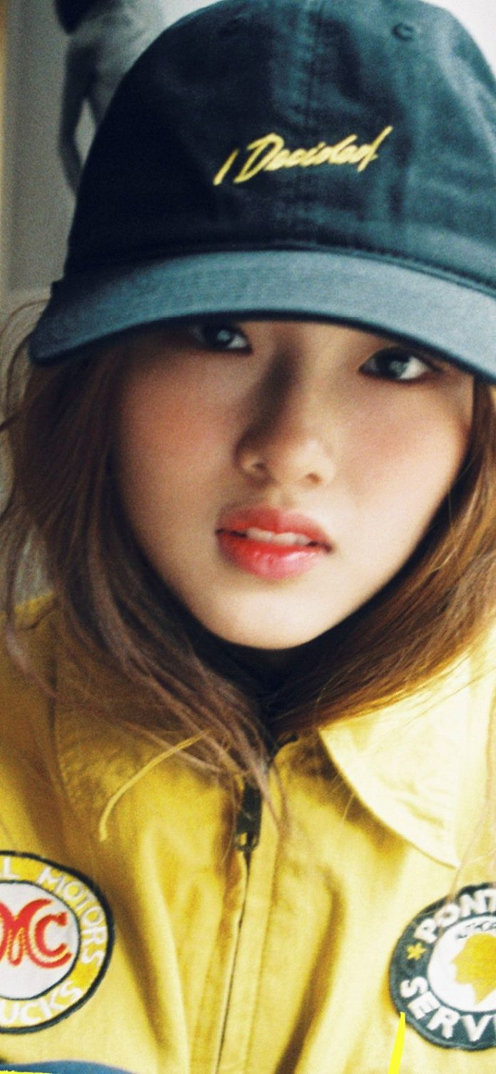hp58-girl-hat-cute-kpop via iPhoneXpapers.com - Wallpapers for iPhone X