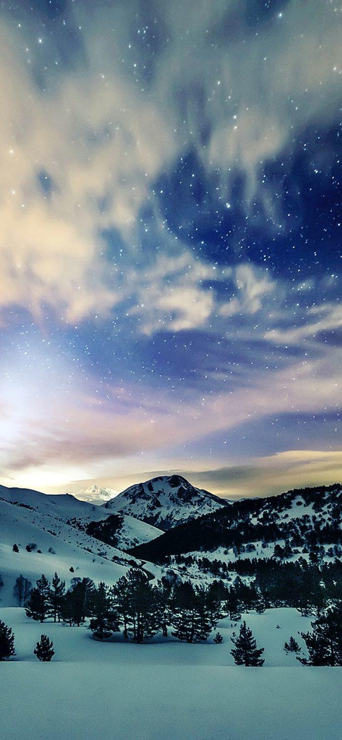 mk79-aurora-star-sky-snow-night-mountain-winter-nature via iPhoneXpapers.com - W...