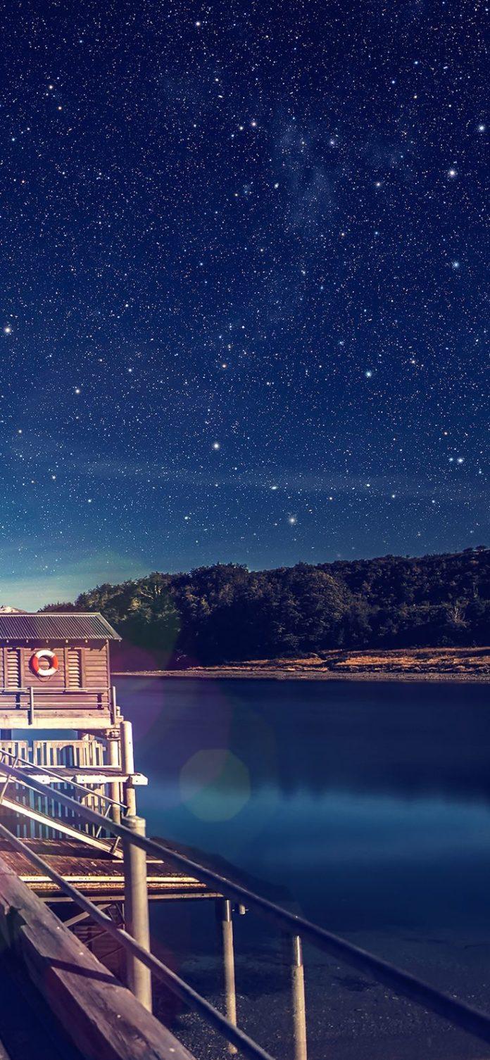 mm11-star-shiny-lake-blue-sky-space-boat-flare via iPhoneXpapers.com - Wallpaper...