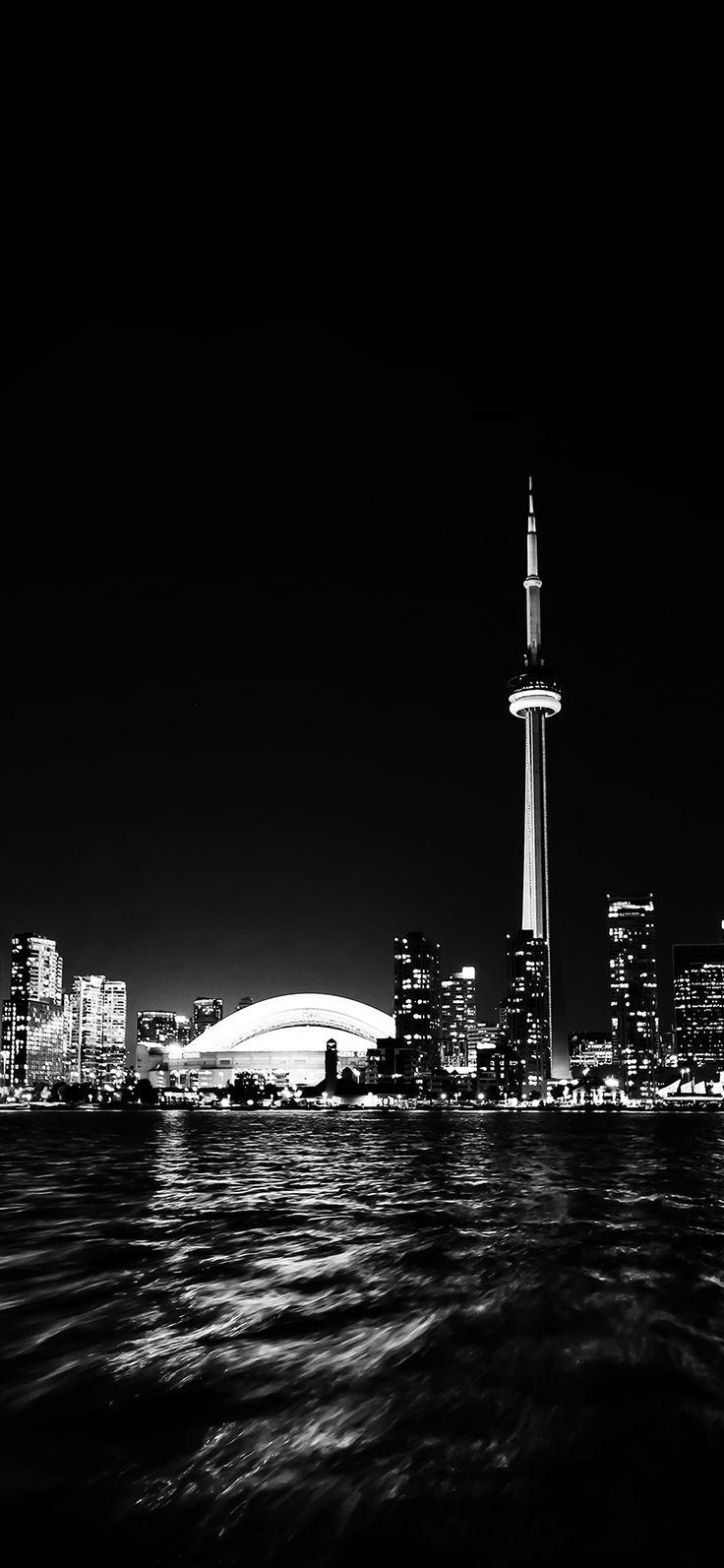 Iphone X Wallpaper Mt45 Toronto City Night Missing Tower