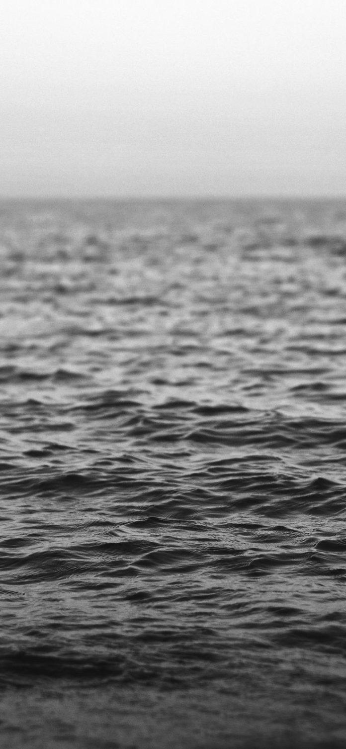nj36-water-sea-ocean-wave-bokeh-dark-bw via iPhoneXpapers.com - Wallpapers for i...
