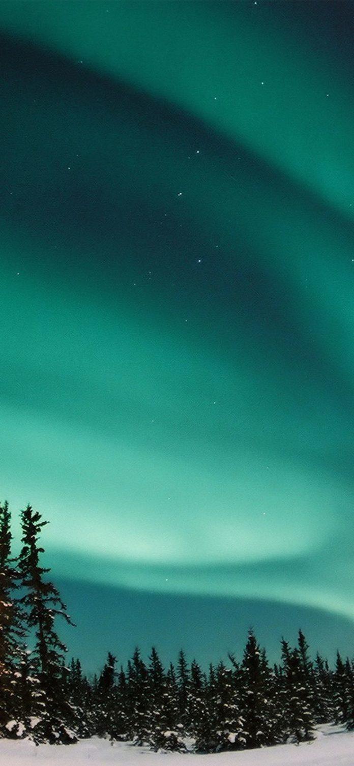 nw70-aurora-blue-night-sky-space-nature-winter via iPhoneXpapers.com - Wallpaper...