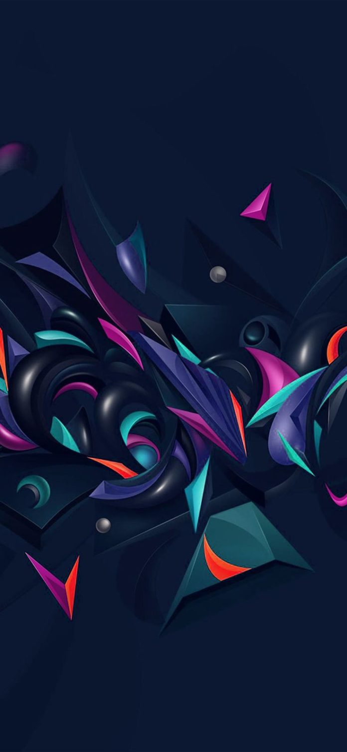 vq28-abstract-art-pattern-rainbow-blue via iPhoneXpapers.com - Wallpapers for iP...