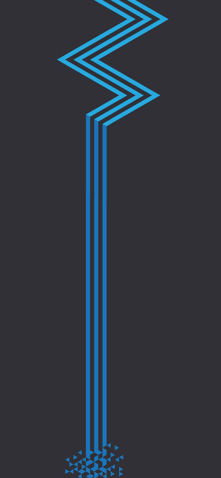 Iphone X Wallpaper Vz23 Minimal Blue Dark Line Abstract