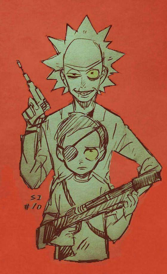 If Evil Rick and Morty Had to Stop Tetsuo