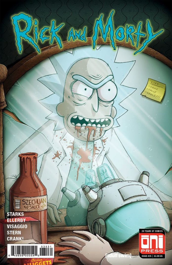 RICK and MORTY #35 Demon in a Bottle homage variant cover by Mike Vasquez