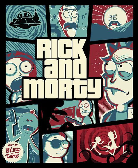 Rick And Morty - Gta Digital Art by Rick And Morty