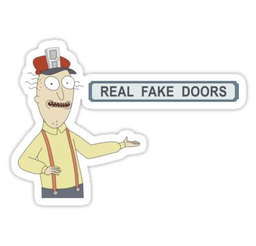 Rick and Morty: Real Fake Doors by snesfreak