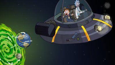 TV Show Rick and Morty Rick Sanchez Morty Smith Spaceship Space Cruiser (Rick an...