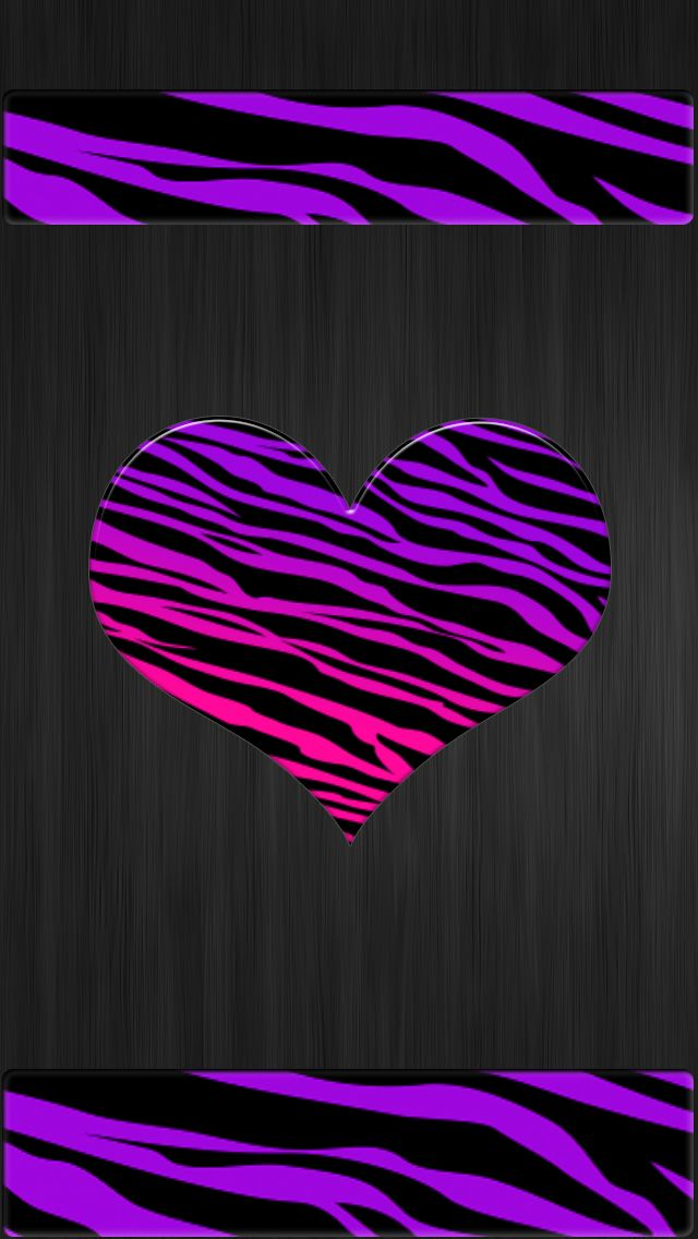 Valentines Wallpaper Purple Pink Tiger Print Iphone