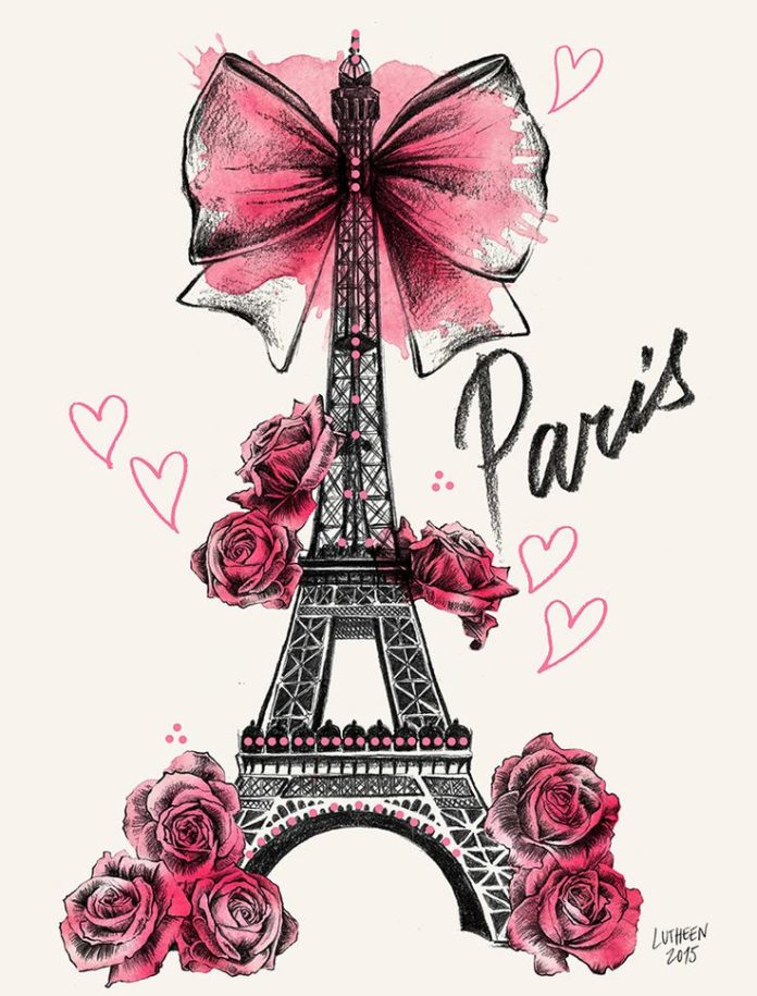 Illustration - Draw - Roses for Paris www.facebook.com/...