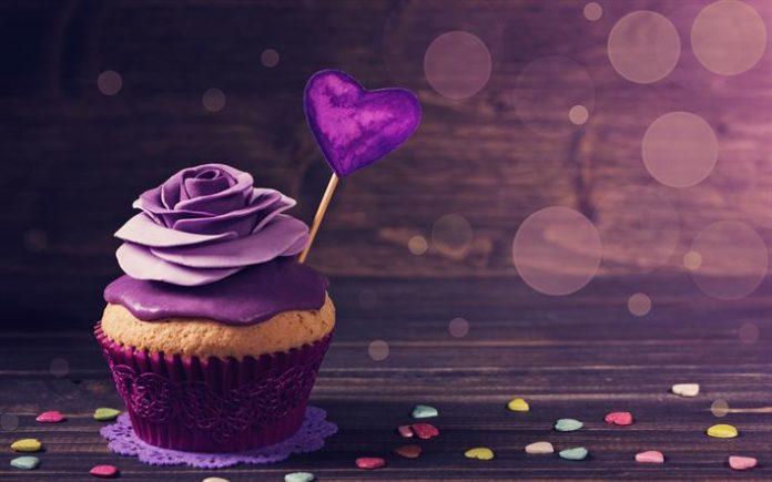 Télécharger fonds d'écran La saint valentin, le 14 février, cupcake, gâ...