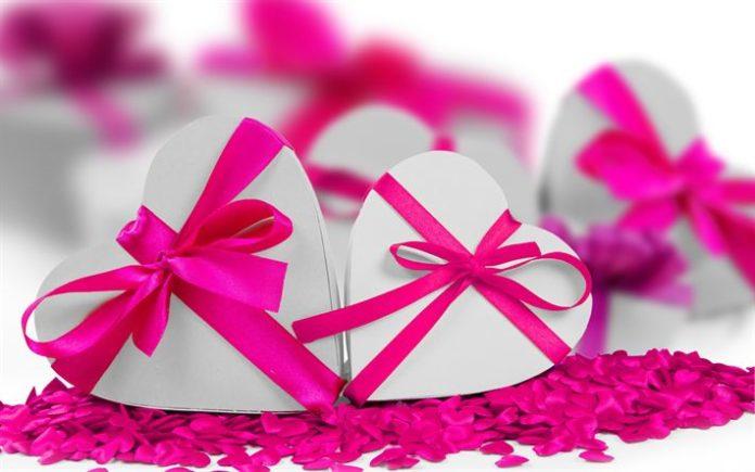Télécharger fonds d'écran La saint valentin, le 14 février, rose rubans ...
