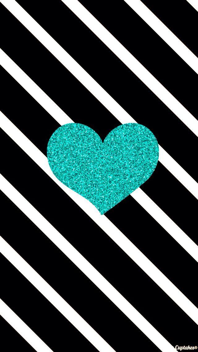 Teal sparkle love- wallpaper   lockscreen   papel de parede   plano de fundo   b...
