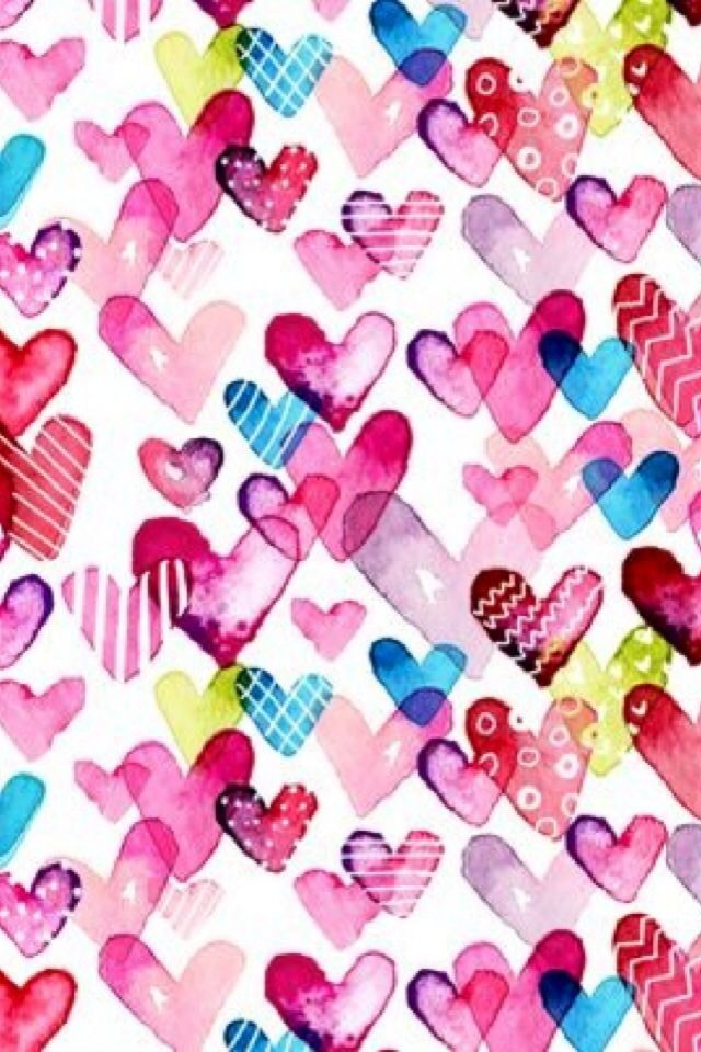 iPhone Wallpaper-Valentine's Day - Hearts    tjn
