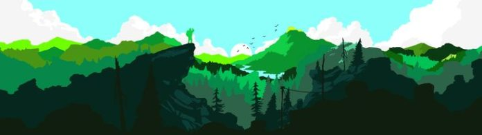 A dual monitor firewatch wallpaper I recoloured because i couldn't find it i...