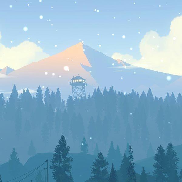 Firewatch 4K  Wallpaper Engine  #4k #blue #engine #Firewatch #wallpaper #Winter