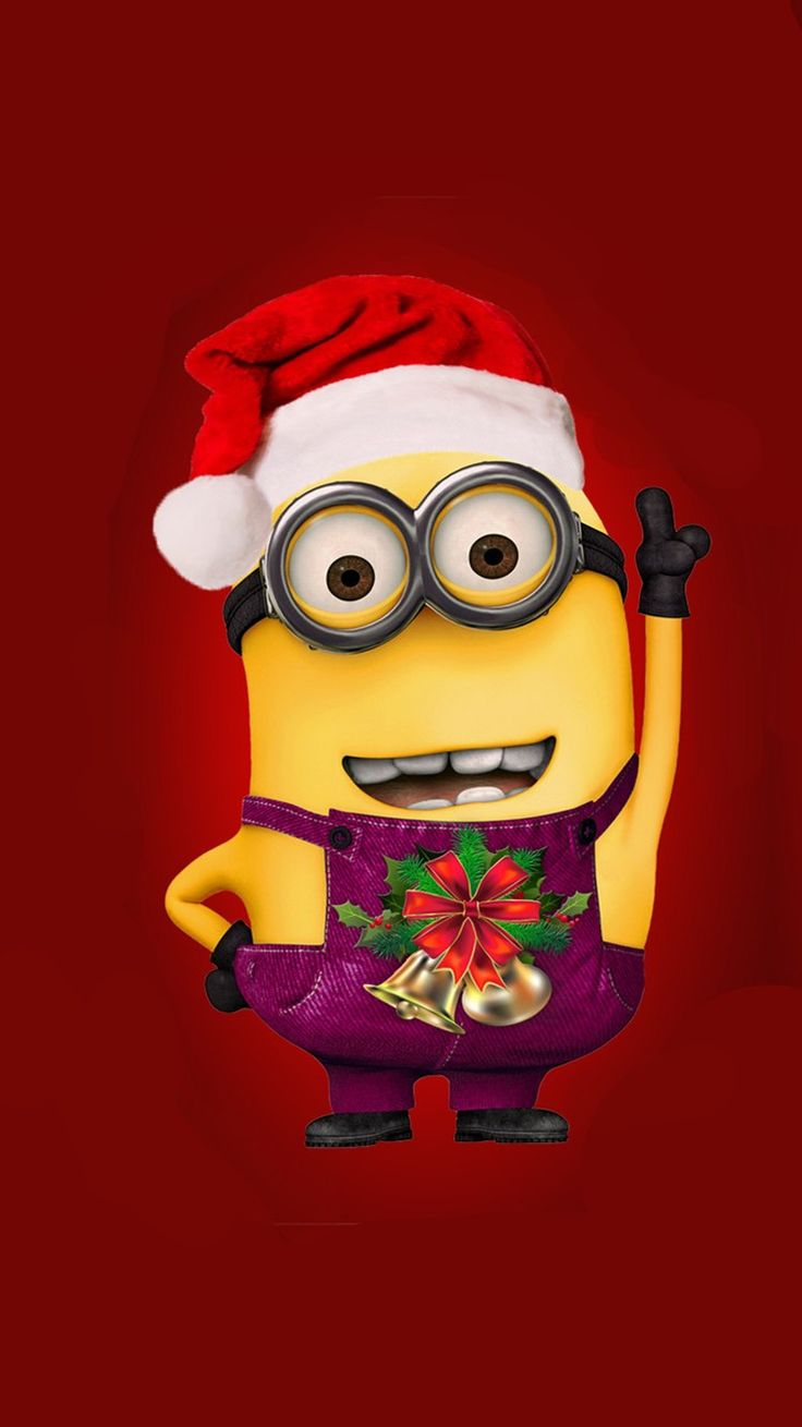 Iphone Wallpaper Ideas  Despicable Me minion with Christmas