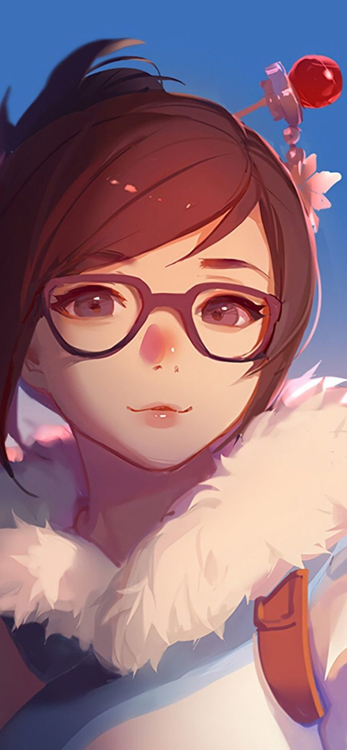 bc42-mei-overwatch-game-art-illustration-cute via iPhoneXpapers.com - Wallpapers...