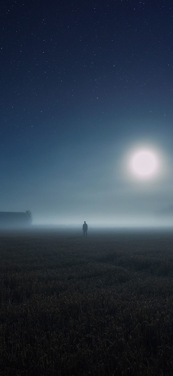 bh93-sunrise-fog-field-art via iPhoneXpapers.com - Wallpapers for iPhone X