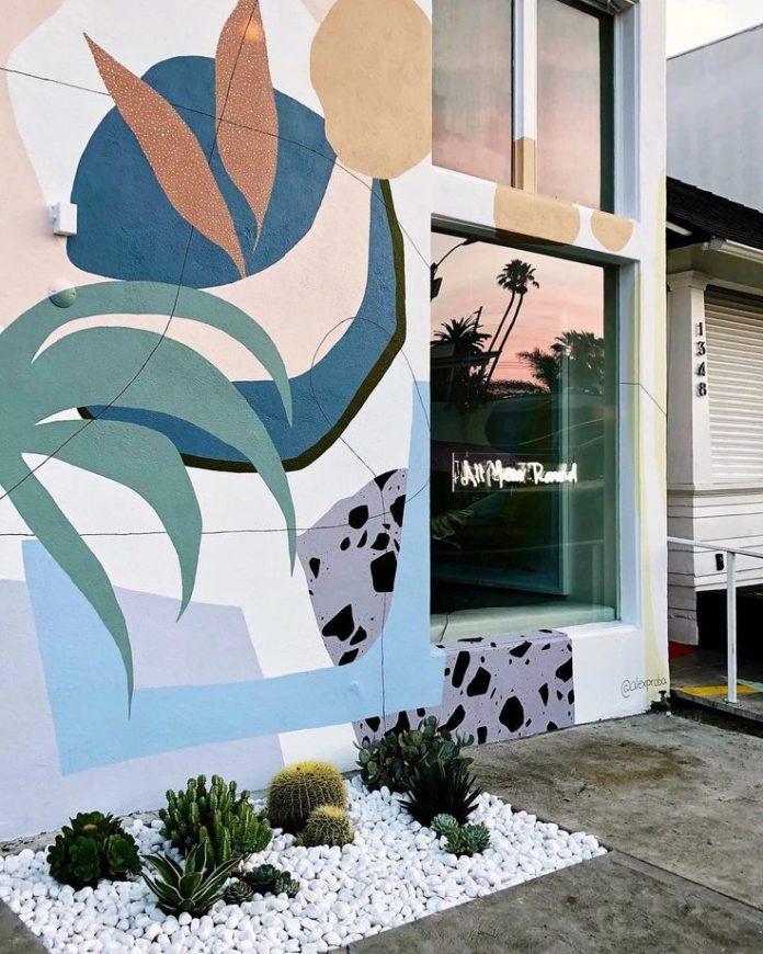 "Studio Proba on Instagram: ""My first mural in beautiful LA on Abbot Kinney Blv..."