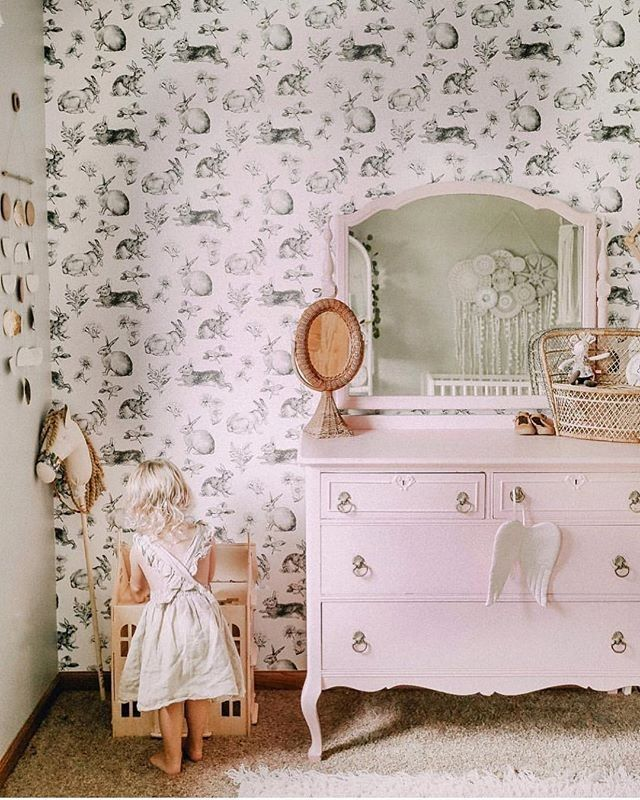 Violet Eyes | Kids Wall Art posted to Instagram: Isn't this bunny wallpaper ...