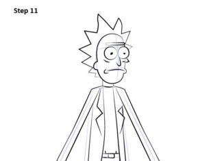Learn How to Draw Rick from Rick and Morty (Rick and Morty) Step by Step : Drawi...