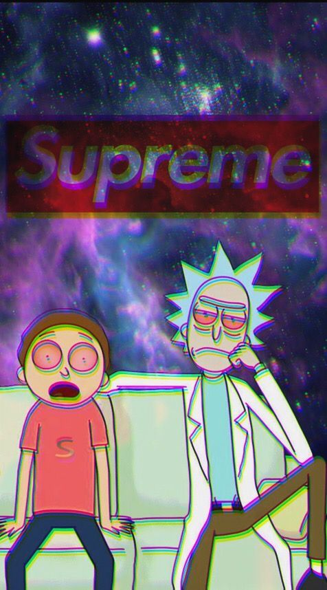 Rick And Morty Wallpaper Iphone Rick And Morty X Supreme Wallpaper