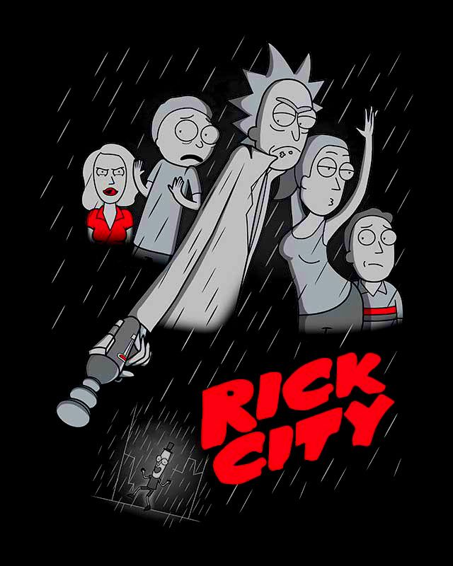 Sin City x Rick and Morty