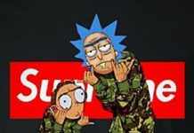 Supreme X Rick & Morty❤️