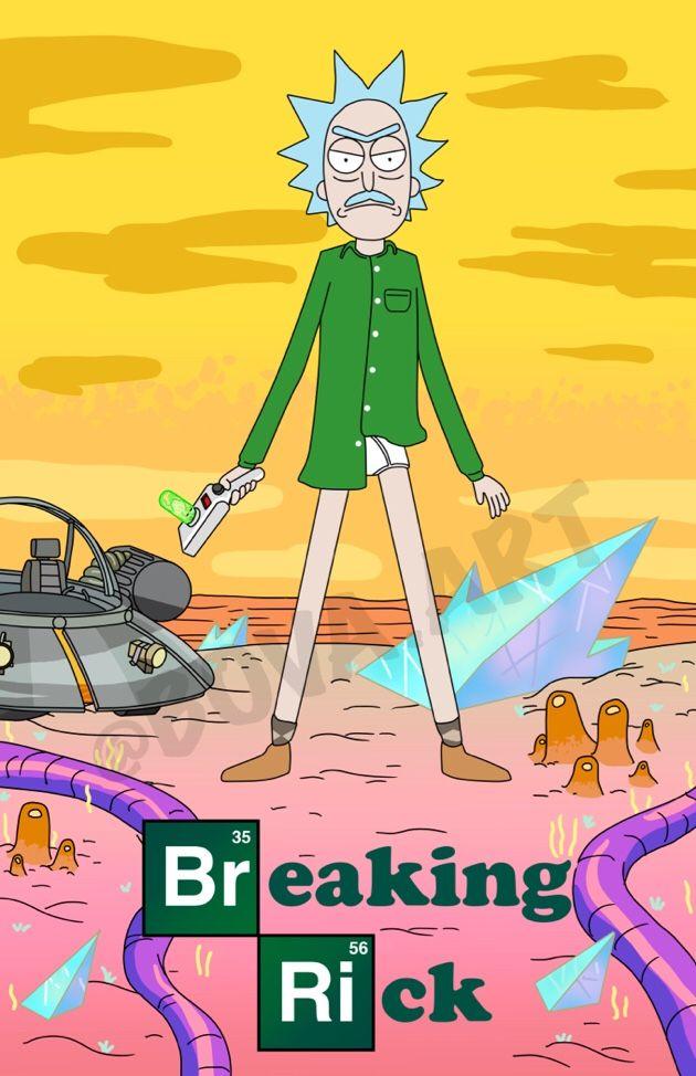 """bovaart: """" Breaking Rick Follow me on IG @Bova.Art Www.Redbubble.Com/people/bo..."""