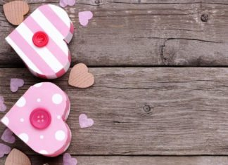 Simple love scrapbook page
