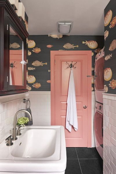 Bathroom Decor Ideas : Use Wallpaper 20 Times Color Was Done Right In Bathrooms ...