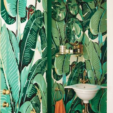 Interior Design Wallpaper Ideas Banana Leaf Wallpaper
